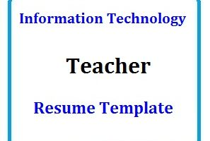 Information Technology Teachers Resume Template