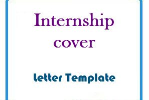 Internship cover Letter Template