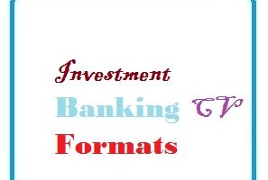 Investment Banking CV Formats