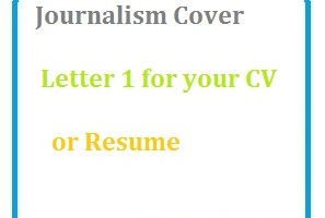 Journalism Cover Letter 1 for your CV or Resume
