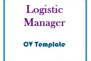 Logistic Manager CV Template