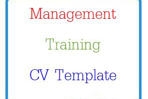 Management Training CV Template