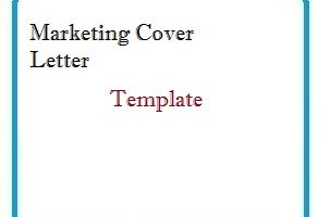 Marketing Cover Letter Template