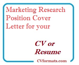 Market Research Cover Letter from cvformats.com