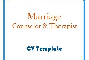 Marriage Counselor & Therapist CV Template