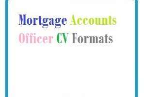 Mortgage Accounts Officer CV Formats
