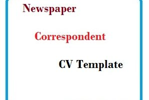 Newspaper Correspondent CV Template