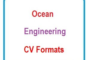 Ocean Engineering CV Formats