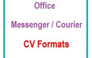 Office Messenger/Courier CV Formats