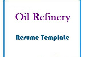 Oil Refinery Resume Template