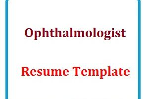 Ophthalmologist Resume Template