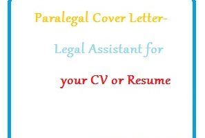 Paralegal Cover Letter - Legal Assistant for your CV or Resume