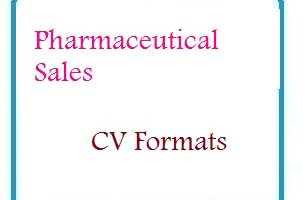 Pharmaceutical Sales CV Formats