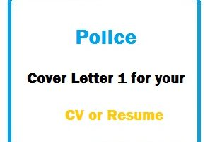 Police Cover Letter 1 for your CV or Resume