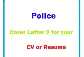 Police Cover Letter 2 for your CV or Resume