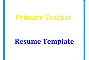 Primary Teacher Resume Template