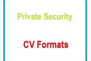 Private Security CV Formats