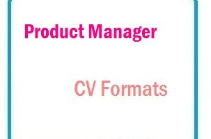 Product Manager CV Formats