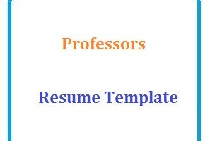 Professors Resume Template