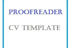 Proofreader CV Template