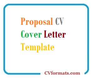 Proposal Cover Letter Template from cvformats.com