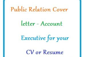 Public Relation Cover letter - Account Executive for your CV or Resume