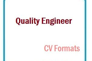 Quality Engineer CV Formats