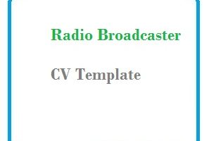 Radio Broadcaster CV Template