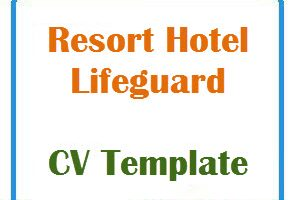 Resort Hotel Lifeguard CV Template