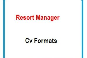 Resort Manager CV Formats