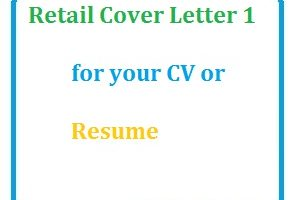 Retail Cover Letter 1 for your CV or Resume