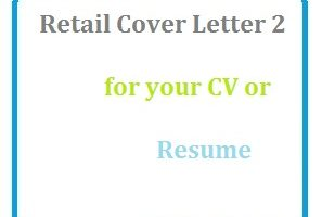 Retail Cover Letter 2 for your CV or Resume