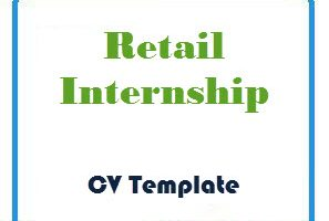 Retail Internship CV Template