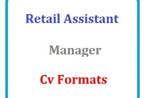 Retail assistant manager CV Formats