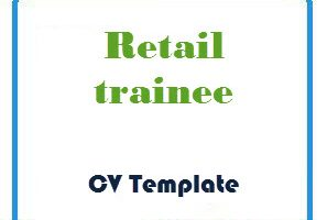 Retail trainee CV Template