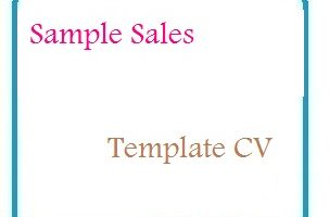 Sample Sales Template CV