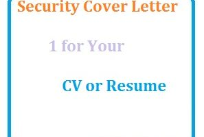 Security Cover Letter 1 for Your CV or Resume