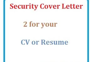 Security Cover Letter 2 for your CV or Resume