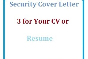 Security Cover Letter 3 for Your CV or Resume