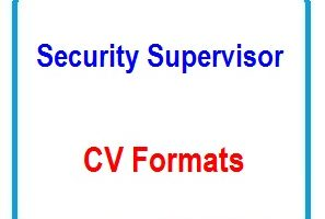 Security Supervisor CV Formats