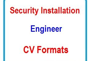 Security installation engineer CV Formats