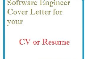 Software Engineer Cover Letter for your CV or Resume