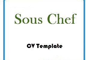 Sous Chef CV Template