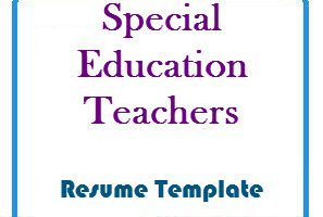 Special Education Teachers Resume Template