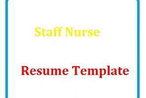 Staff Nurse Resume Template