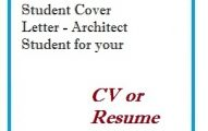 Student Cover Letter - Architect Student for your CV or Resume