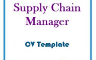 Supply Chain Manager CV Template