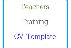 Teachers Training CV Template