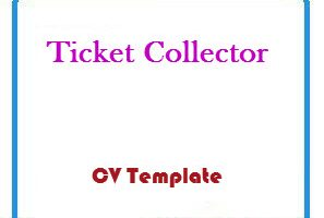 Ticket Collector CV Template