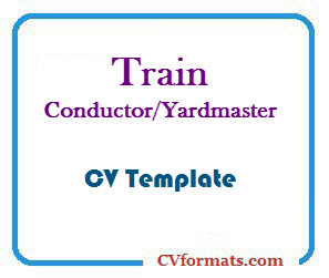 Train Conductor Yardmaster CV Template